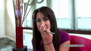 Lovely Coed Missy Vega Is Giving A Hand Job