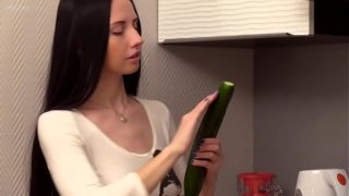 Russian Real Teenager Veronica Snezna In The Kitchen Amateur Solo