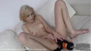 Spinner Blond New Girl Poppy Champagne Stripping Bottle Fuck