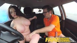 Fake Driving University Busty Jailbird Takes Instructor on a Tough Ride!